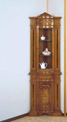 Obrázek Vitrína rohová intarsie